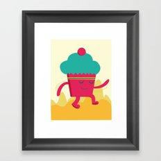 Dancing Cupcake Framed Art Print