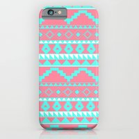 Aztec Pattern 2 Teal & P… iPhone 6 Slim Case