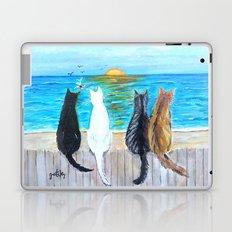 Cat Beach Sunset Laptop & iPad Skin