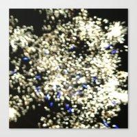 Fireworks Blue Canvas Print