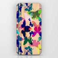 Butterflies on board iPhone & iPod Skin