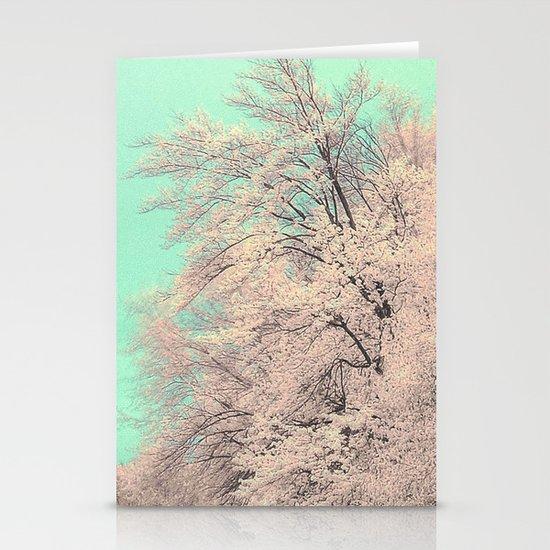 Snow tree Stationery Card