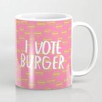 I Vote Burger Mug