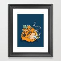Smokin Punkin Framed Art Print