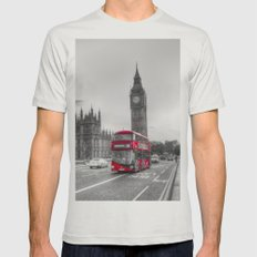 Westminster Bridge  Mens Fitted Tee Silver SMALL