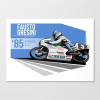 Fausto Gresini - 1985 Spa Canvas Print
