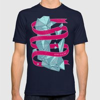 Nothing To See Here. Mens Fitted Tee Navy SMALL