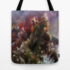 dalgalı deniz Tote Bag