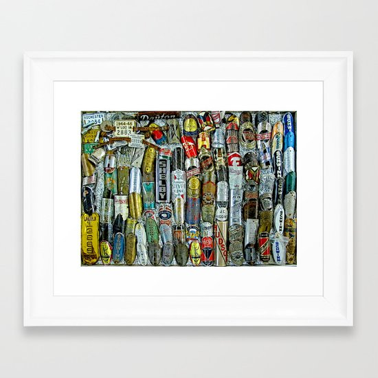 Badges Framed Art Print