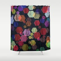 C13 Construct Hex V2 Shower Curtain