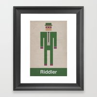 Retro Riddler Framed Art Print