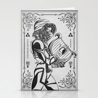 Legend of Zelda Shiek Princess Zelda Geek Line Art Stationery Cards