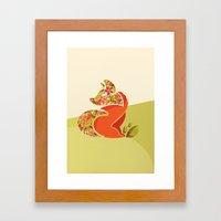 Undercover Fox Framed Art Print