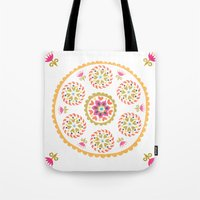Suzani inspired floral 4 Tote Bag