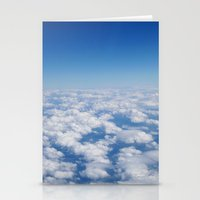Blue Sky White Clouds Co… Stationery Cards