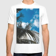 Sky behind the trees White Mens Fitted Tee SMALL