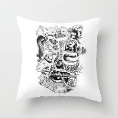 Skull - Inktober 2013 Throw Pillow