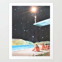Diving Space Art Print