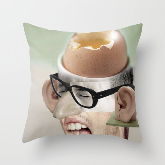 """a yawn is a silent shout"" Throw Pillow"
