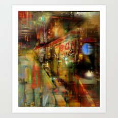 In the subway Art Print