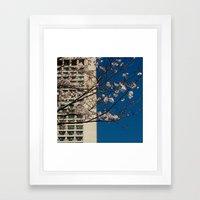 Building on Blue Framed Art Print