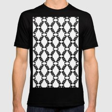 Plain KaleidoNope SMALL Black Mens Fitted Tee