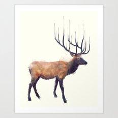 Elk // Reflect (Right) Art Print