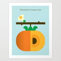 Fruit: Persimmon Art Print