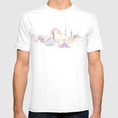 Watercolor landscape illustration_Istanbul - Saint Sophia Mens Fitted Tee White SMALL