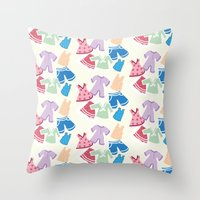 Summer Clothes Throw Pillow