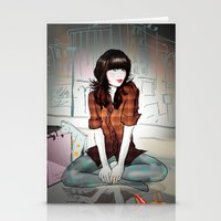 Zooey Deschanel Night Stationery Cards