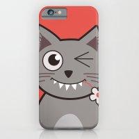 Winking Cartoon Kitty Ca… iPhone 6 Slim Case