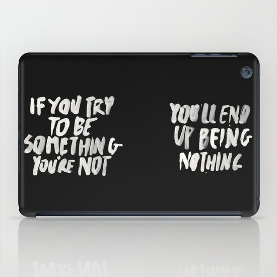 Being Nothing iPad Case
