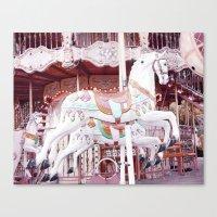 Paris Carousel Horses Canvas Print