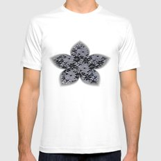 Black Lace White Mens Fitted Tee SMALL