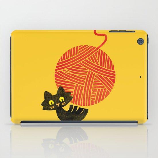 Fitz - Happiness (cat and yarn) iPad Case