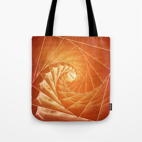 The Burning Eye Sees Spiral Tote Bag