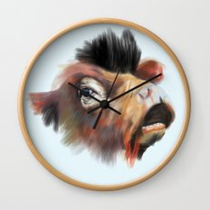 Crazy Cow Wall Clock