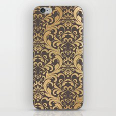 Gold Swirls Damask #1 iPhone & iPod Skin