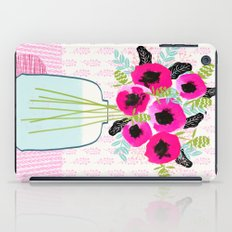 Poppies Vase of flowers cut flower mother's day cute florals illustration Andrea Lauren  iPad Case