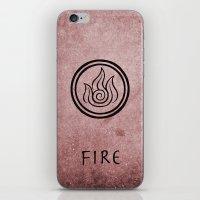 Avatar Last Airbender Elements - Fire iPhone & iPod Skin