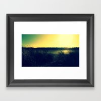 Grass Lands Framed Art Print