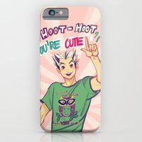 iPhone Cases featuring Hoot hoot you're cute! by viria