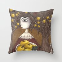 Portrait Of An Apple Orc… Throw Pillow