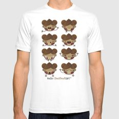 Chestnut Girl Mood Mens Fitted Tee White SMALL