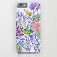 iPhone & iPod Case featuring Floral Blue by Maria Hegedus