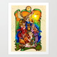 The Golden Goddesses  Art Print