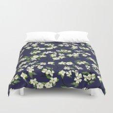 April blooms(Dogwoods_blue) Duvet Cover