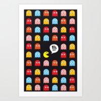 Pac-Man Trapped Art Print