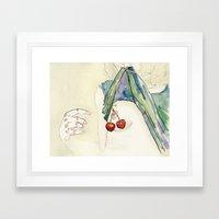 Cerezas. Framed Art Print